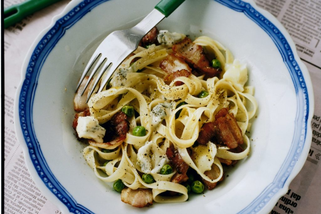 Recept från Zeta. pasta_med_gorgonzola_bacon_artor