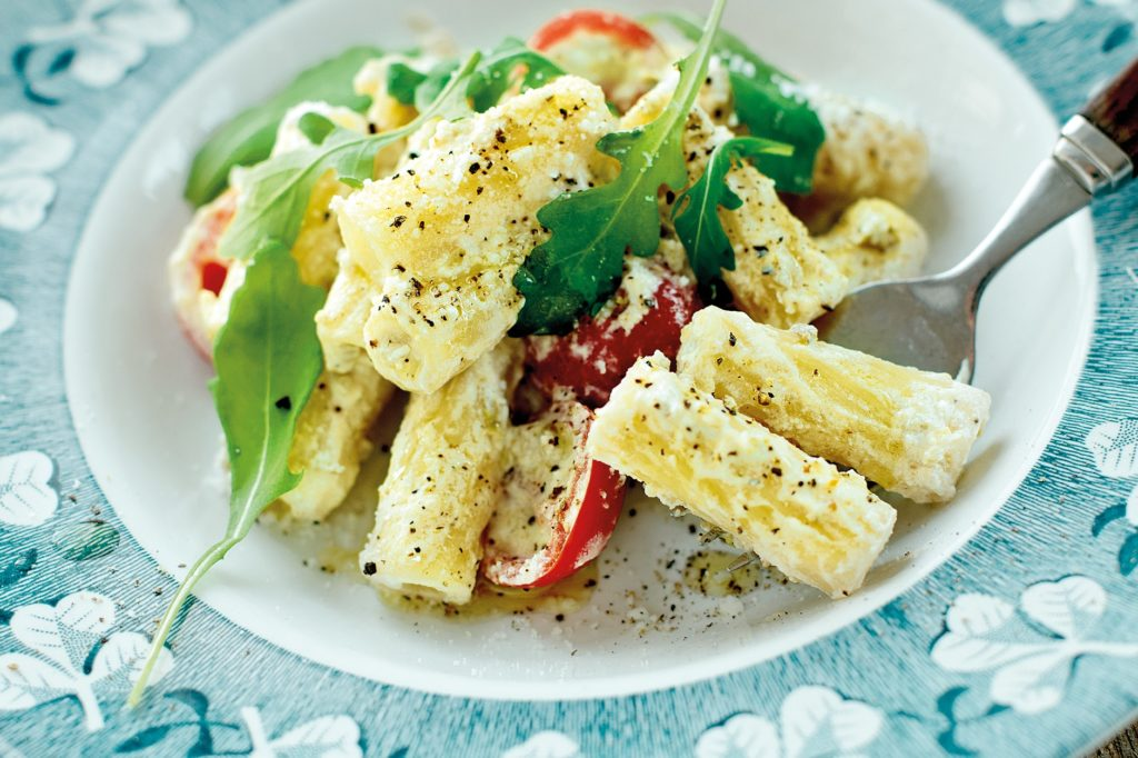 Recept från Zeta. tortiglioni-med-gron-olivcreme