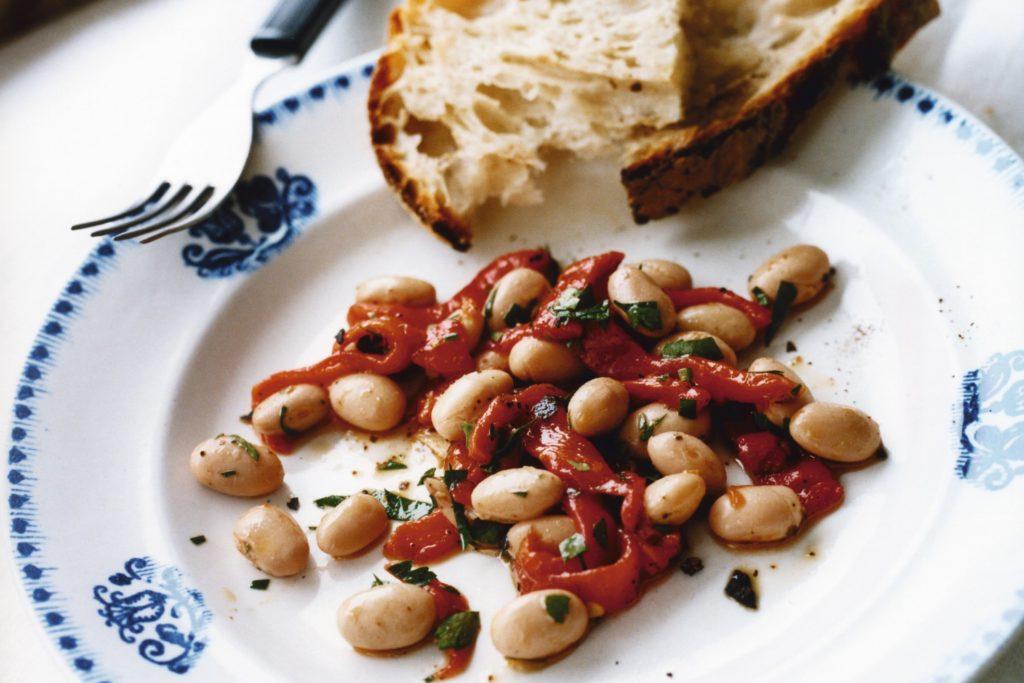 Recept från Zeta: Borlottibonor med rostad paprika och persilja