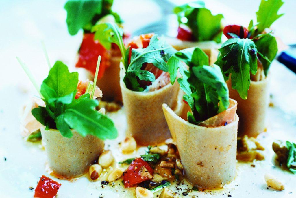 Recept från Zeta: Lasagne med oliv- och kaprisvinägrett