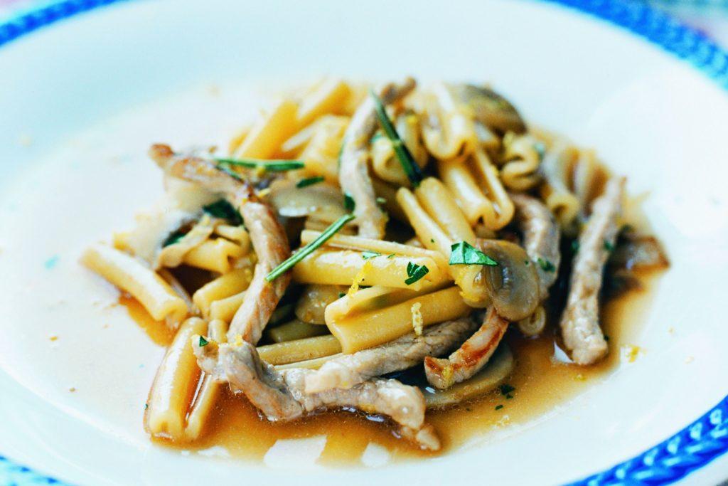 Recept från Zeta: Pasta med fläsk och champinjoner