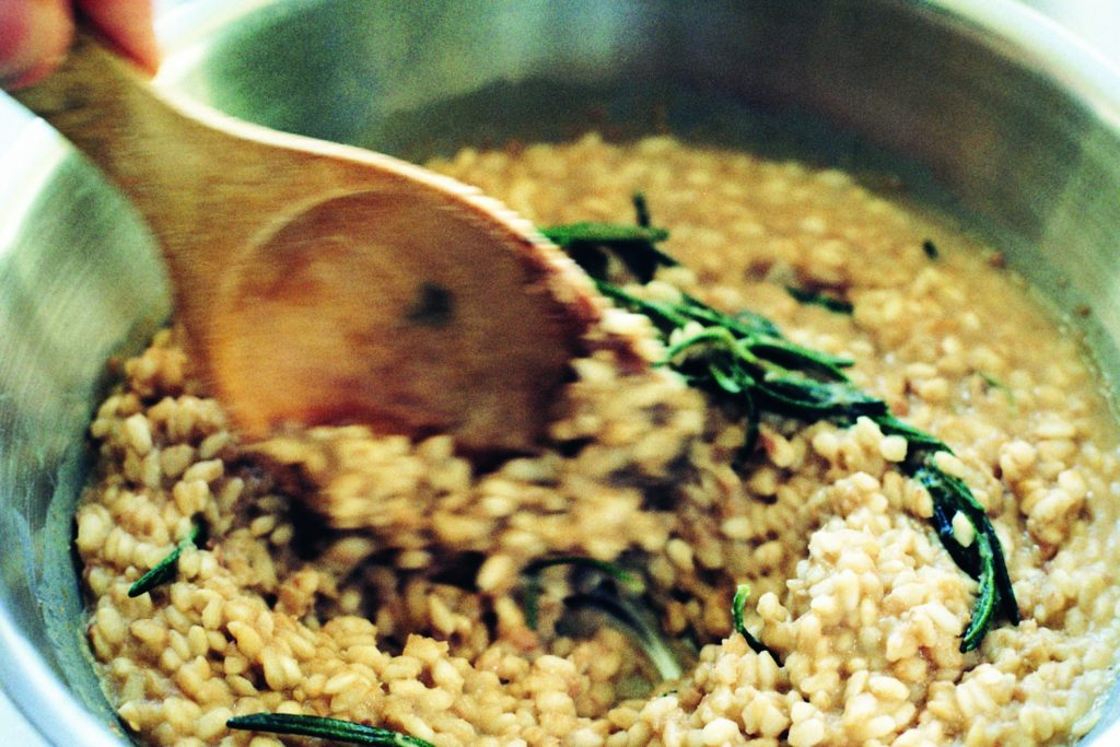 Recept från Zeta: Risotto con Borlotti