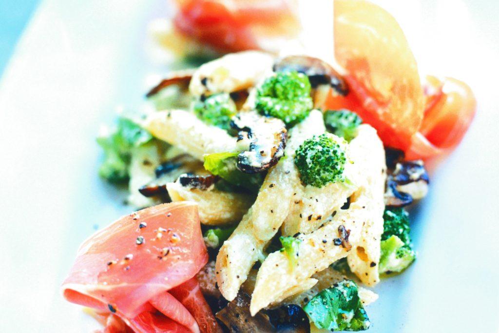 Recept från Zeta: Pasta med champinjoner och prosciutto