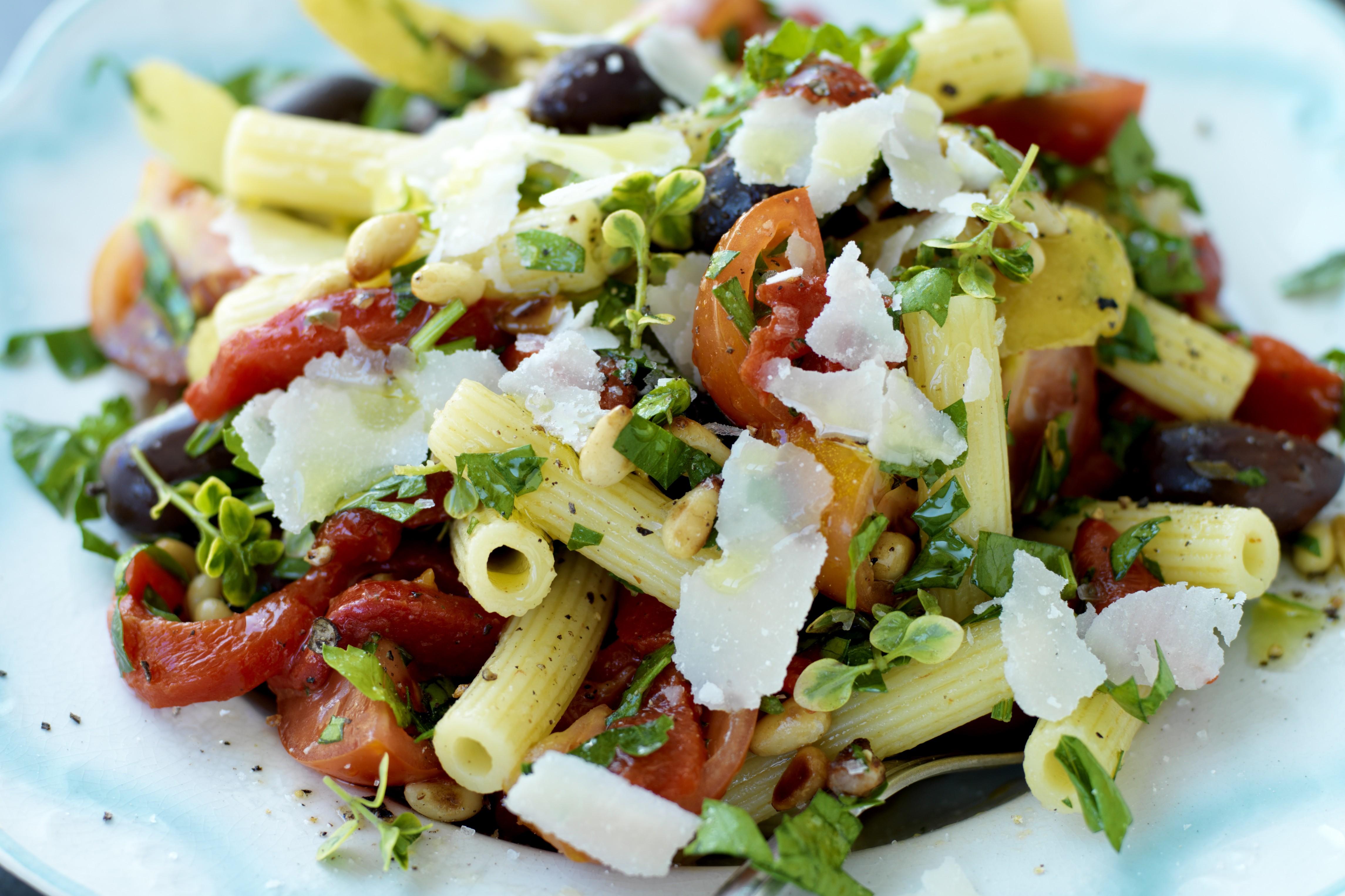 Rostad paprika med kapris och parmesan